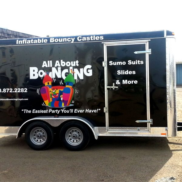 All About Bouncing Trailer Decals