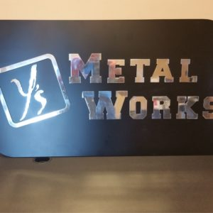 ys marketing metal sign